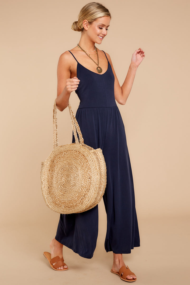 2 Wanna Be There Navy Jumpsuit at reddressboutique.com