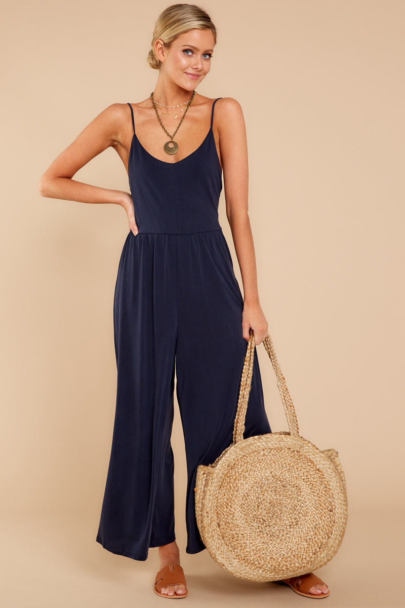 1 Wanna Be There Navy Jumpsuit at reddressboutique.com