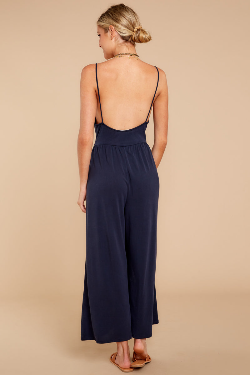 5 Wanna Be There Navy Jumpsuit at reddressboutique.com