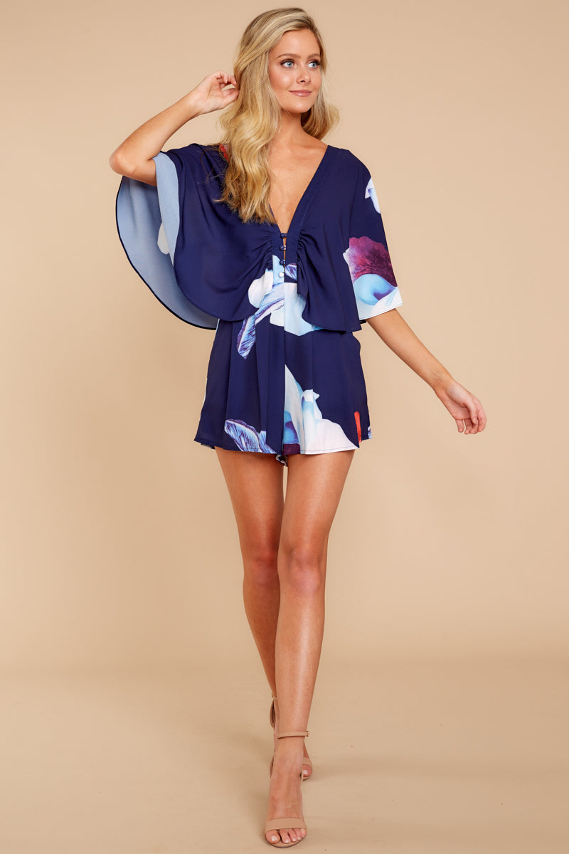 2 Can't Forget This Navy Floral Print Romper at reddressboutique.com