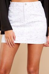 1 In Search Of You White Print Skirt at reddressboutique.com