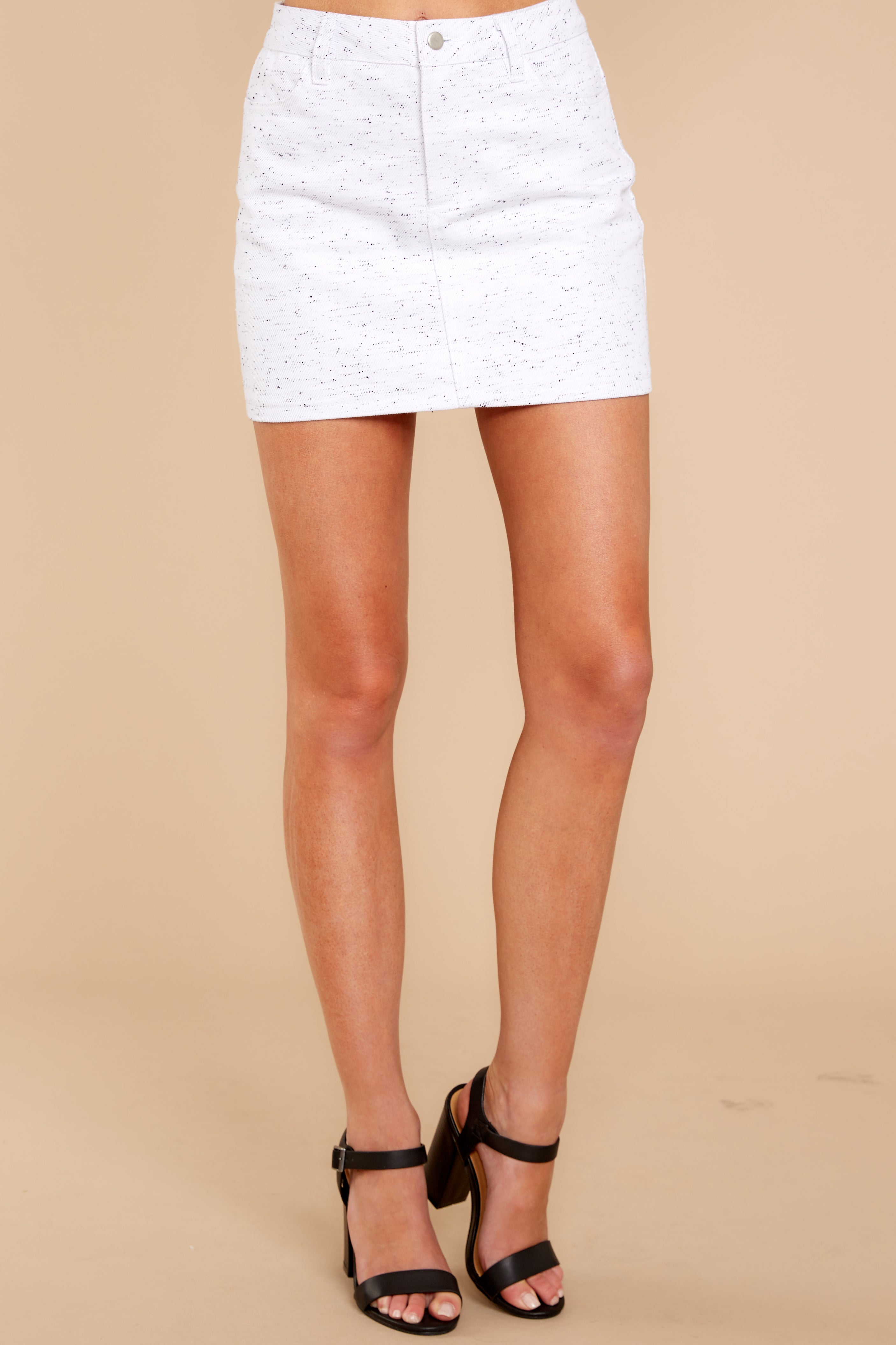 2 In Search Of You White Print Skirt at reddressboutique.com