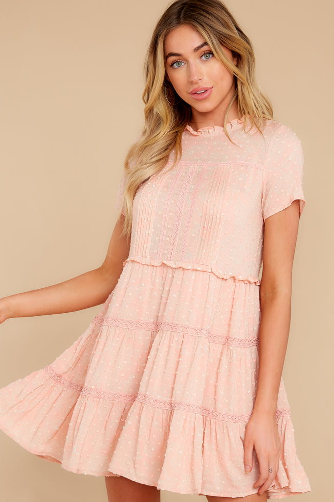 1 Your Best Shot Peach Slub T-Shirt Dress at reddress.com