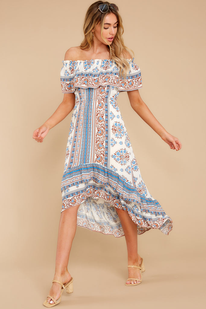 1 Sunsets With You Blue Print Maxi Dress at reddress.com