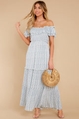 2 Sunsets With You Blue Print Maxi Dress at reddress.com