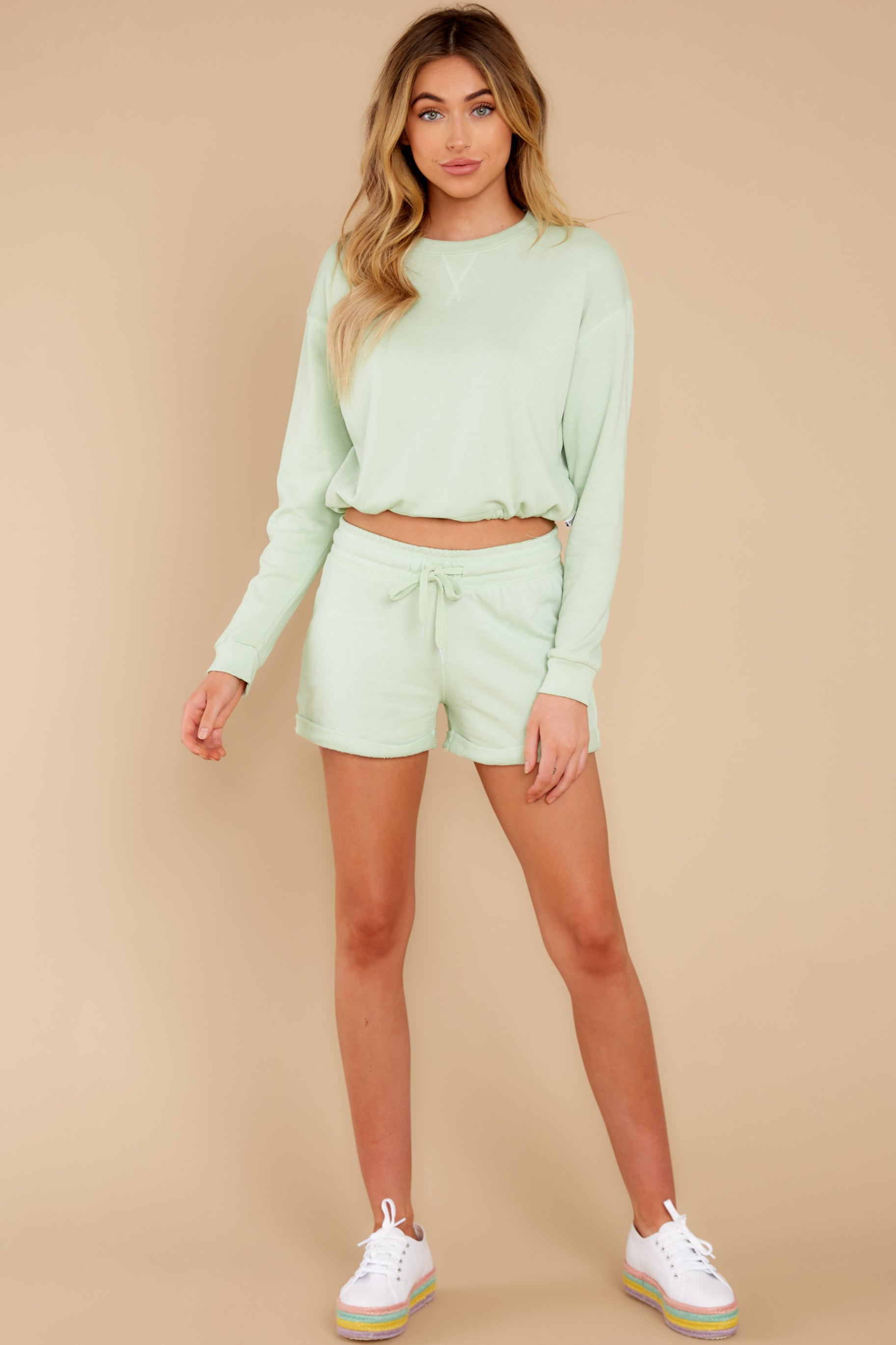 5 Such A Sweetheart Pastel Green Shorts at reddress.com