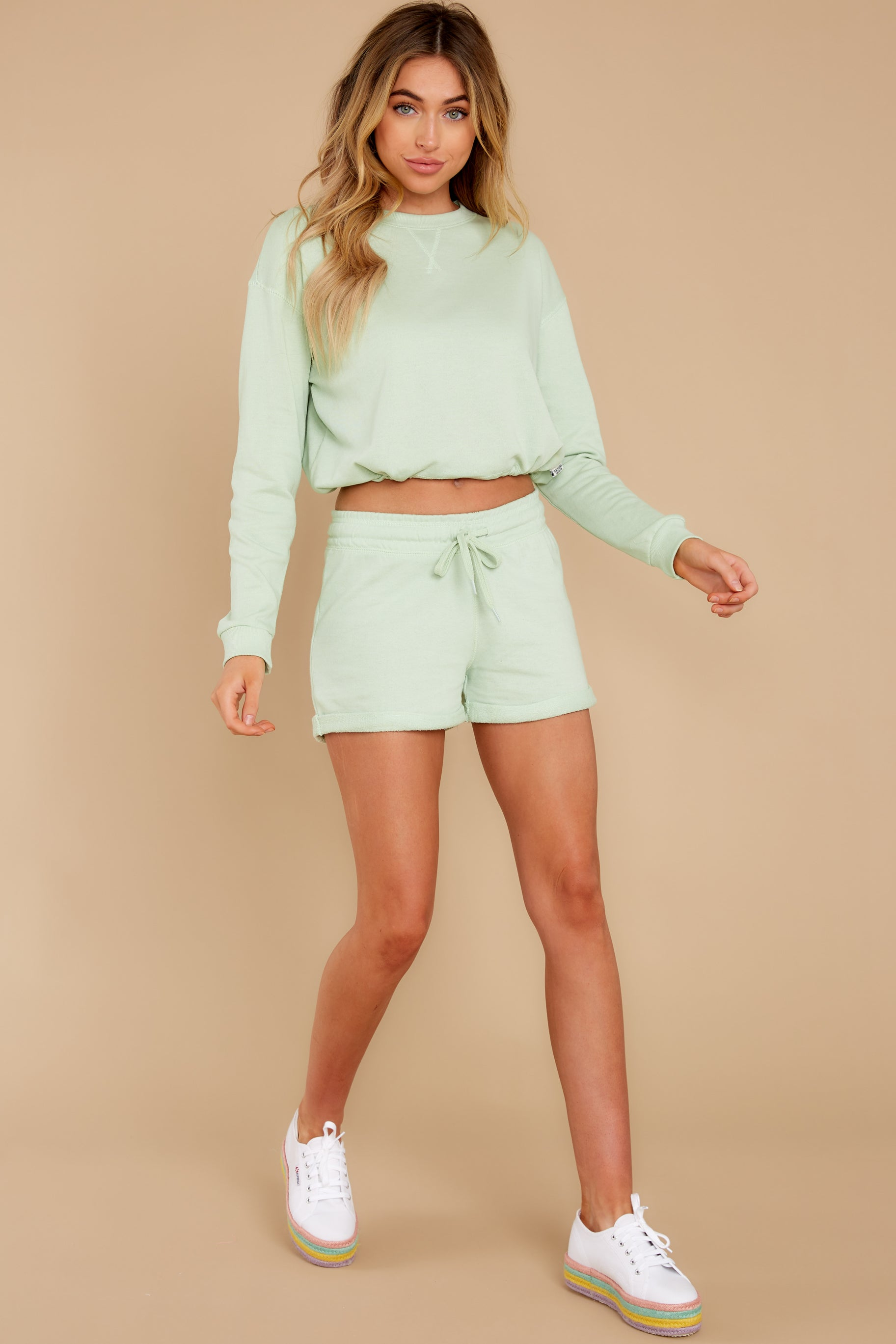 4 Such A Sweetheart Pastel Green Shorts at reddress.com