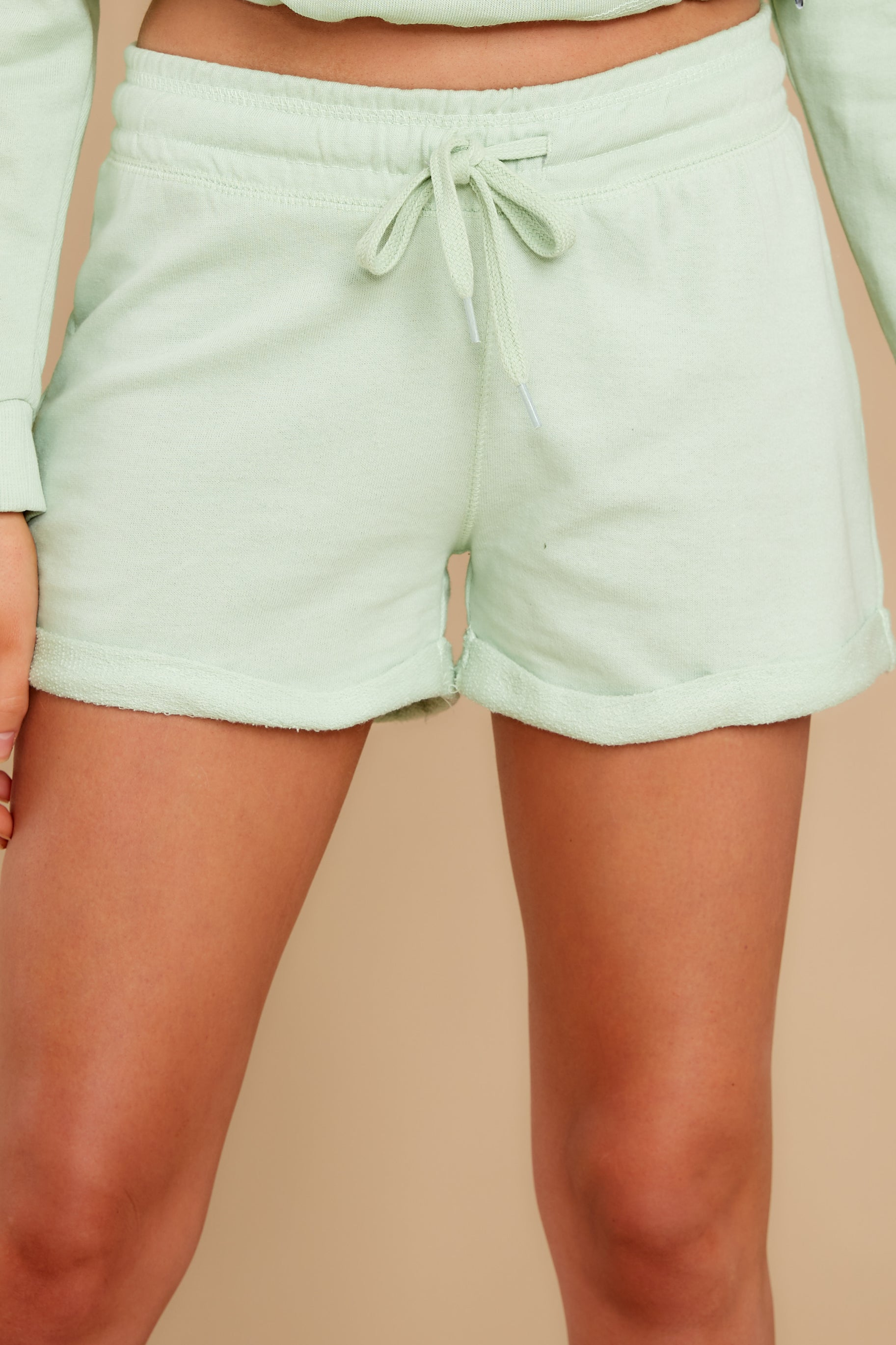 1 Such A Sweetheart Pastel Green Shorts at reddress.com