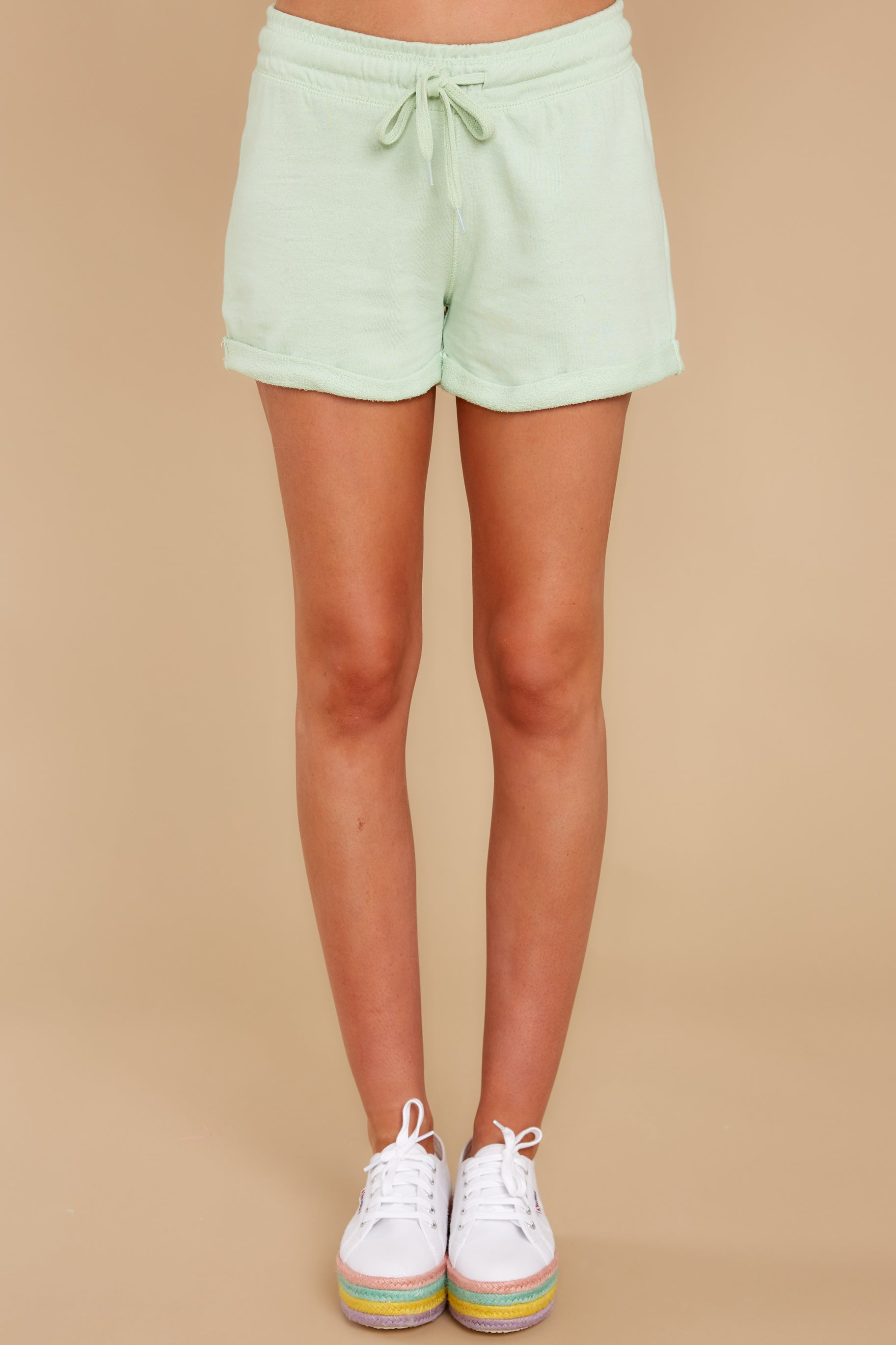 2 Such A Sweetheart Pastel Green Shorts at reddress.com