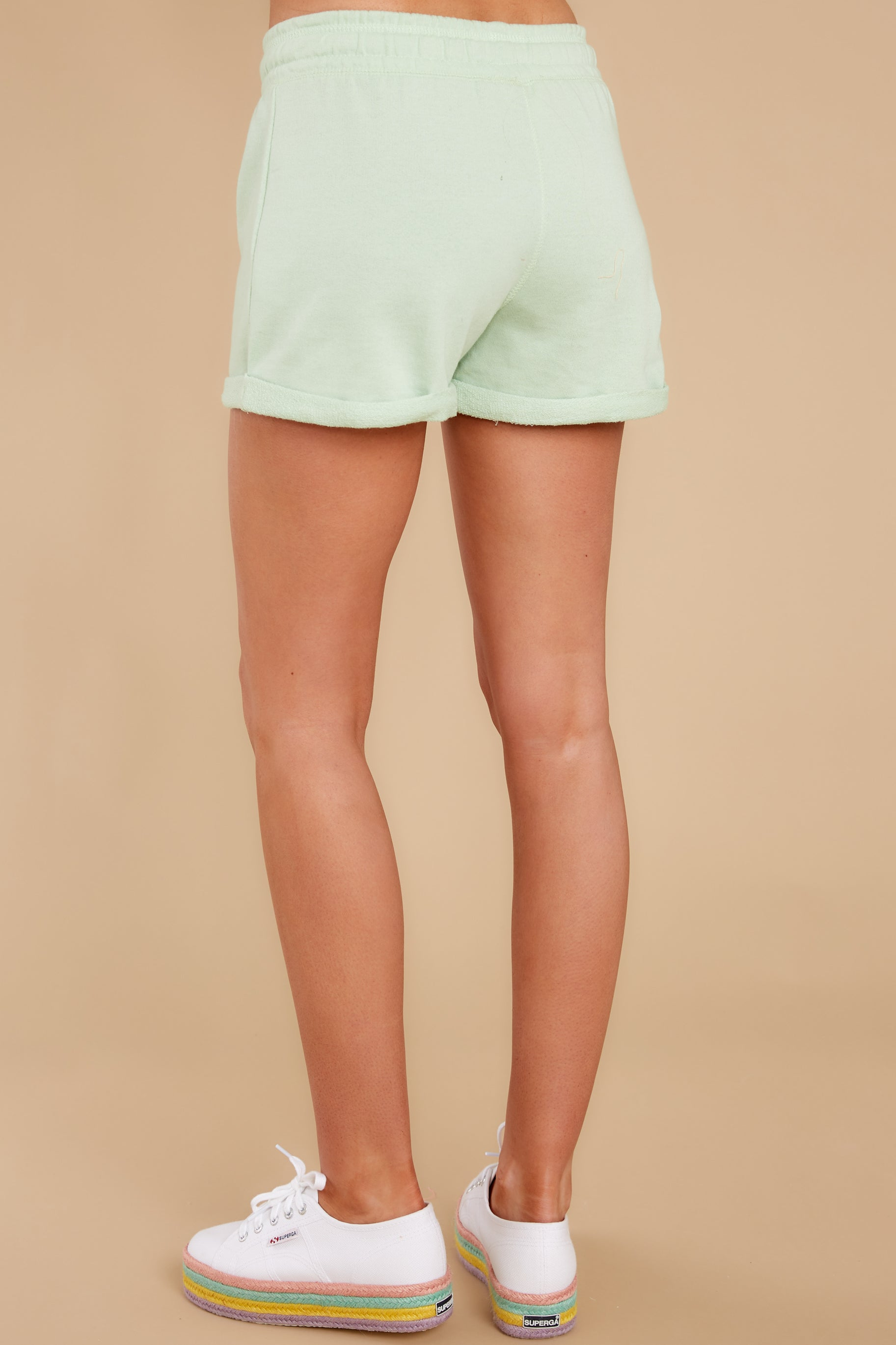 3 Such A Sweetheart Pastel Green Shorts at reddress.com