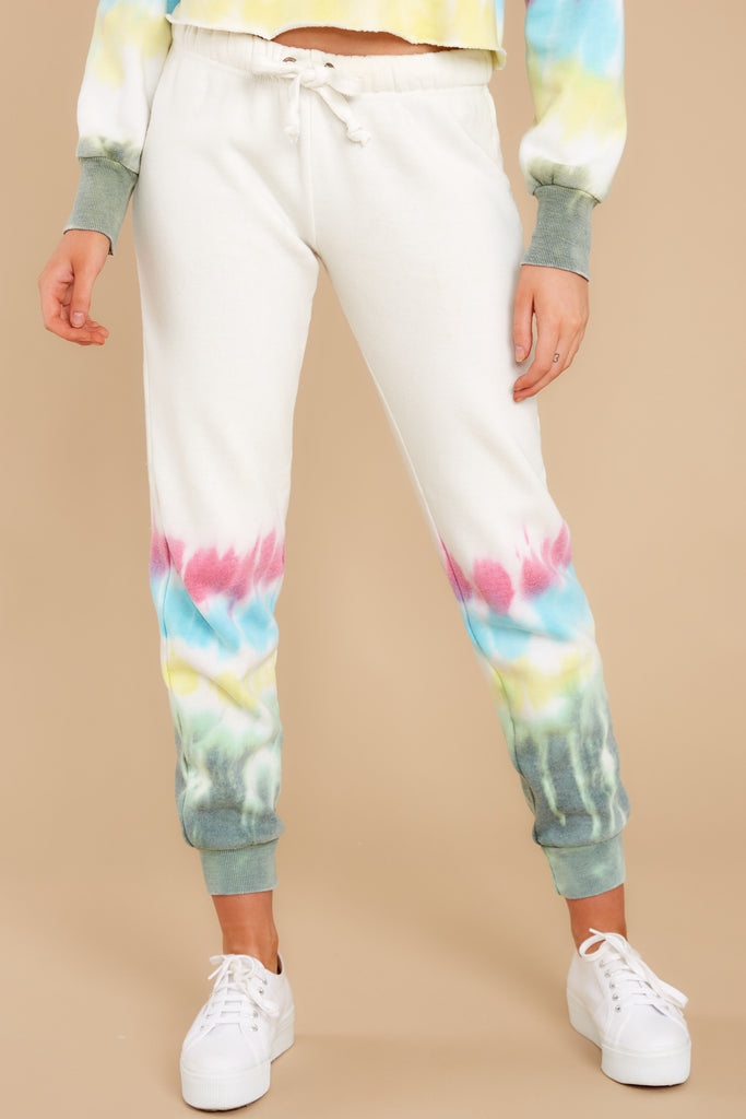 1 All Your Own Peach Tie Dye Pants at reddress.com
