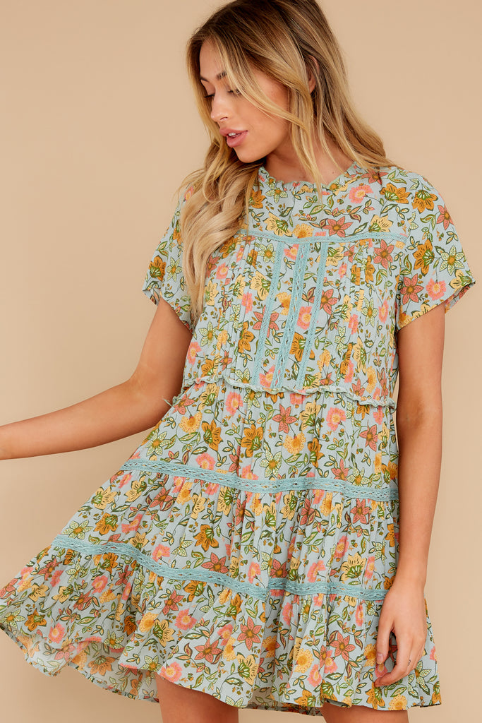 1 No Greater Love Navy Floral Print Dress at reddress.com