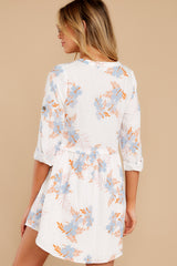 7 Paradise Awaits Ivory Tropical Print Dress at reddress.com