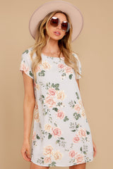 1 In The Rose Garden Lavender Floral Print Dress at reddress.com