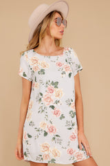 6 In The Rose Garden Lavender Floral Print Dress at reddress.com