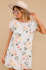 7 In The Rose Garden Lavender Floral Print Dress at reddress.com