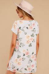 8 In The Rose Garden Lavender Floral Print Dress at reddress.com