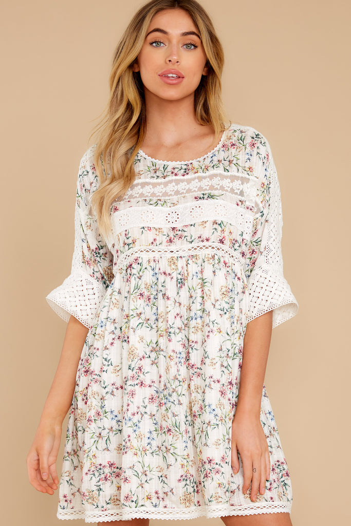 1 A Good Romance White Print Dress at reddress.com