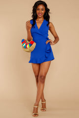 1 Worth Your While Royal Blue Romper at reddressboutique.com