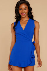 6 Worth Your While Royal Blue Romper at reddressboutique.com