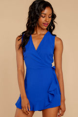 4 Worth Your While Royal Blue Romper at reddressboutique.com