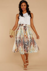 4 Day And Night Snake Print Midi Skirt at reddressboutique.com