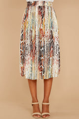 2 Day And Night Snake Print Midi Skirt at reddressboutique.com