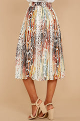 3 Day And Night Snake Print Midi Skirt at reddressboutique.com