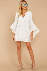 1 Can't Be Bothered White Cover Up at reddressboutique.com