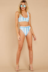 3 High Tide Blue Multi Seaside Stripe Bikini Bottoms at reddressboutique.com