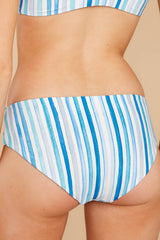2 Low Tide Blue Multi Seaside Stripe Bikini Bottoms at reddress.com