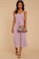 2 Late Summer Evenings Violet Jumpsuit at reddressboutique.com