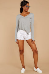 2 Casual For The Day Grey Top at reddress.com