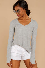 4 Casual For The Day Grey Top at reddress.com