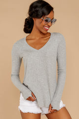 5 Casual For The Day Grey Top at reddress.com