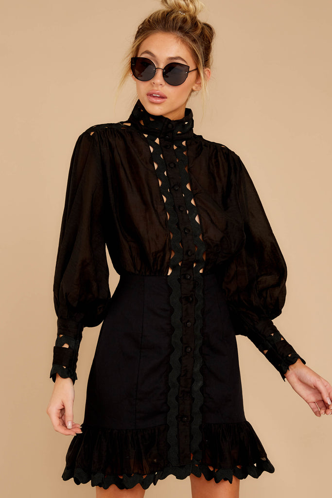 1 Foundational Brilliance Black Dress at reddressboutique.com