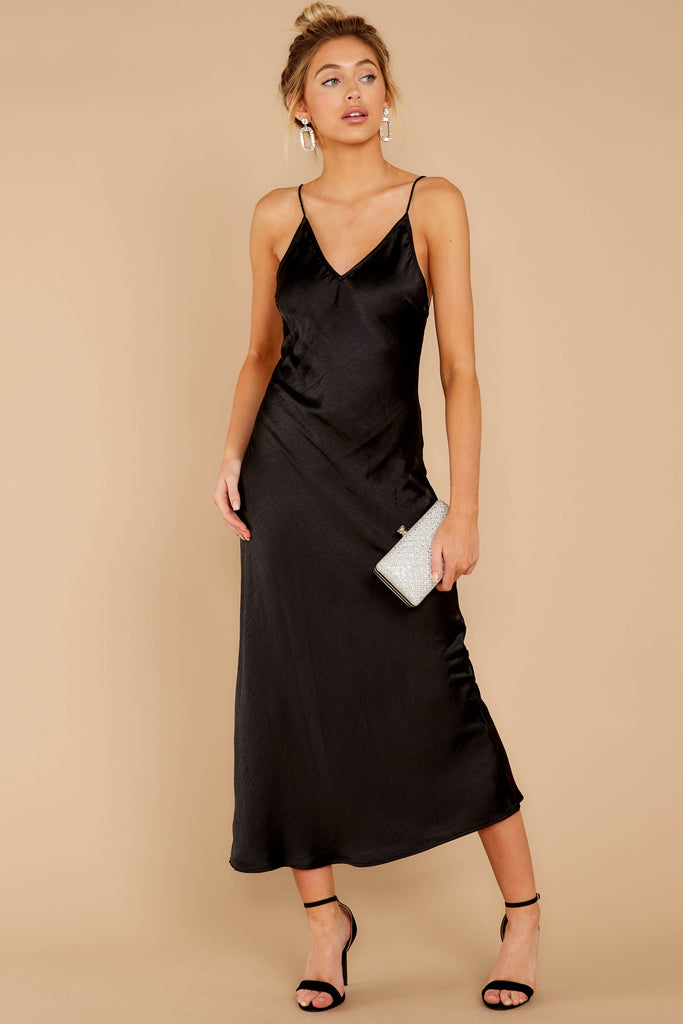 1 Just One Look Black Midi Dress at reddressboutique.com