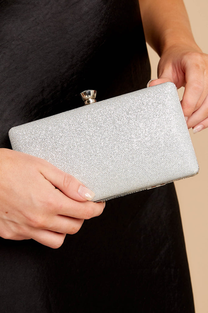 1 It's A Date Silver Clutch at reddressboutique.com
