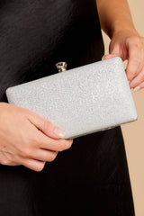 1 Statement Style Silver Clutch at reddressboutique.com