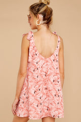 6 No More Trouble Pink Flamingo Print Dress at reddressboutique.com