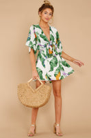 V-neck General Print Polyester Pleated Cutout Kimono Sleeves Dress