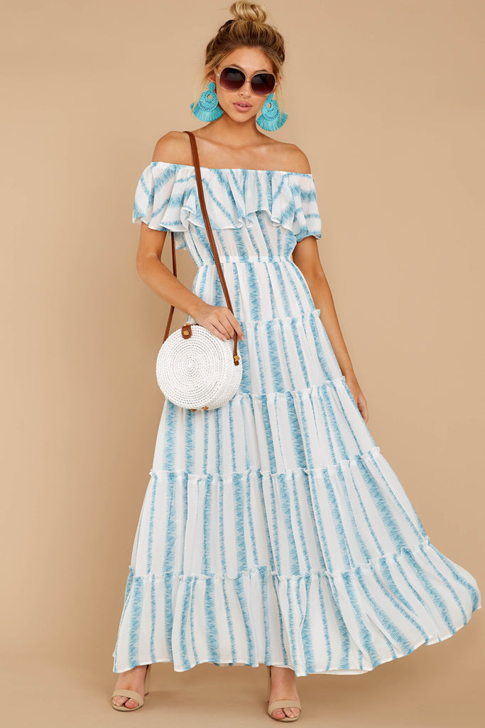 1 Wherever The Day Leads Light Blue Floral Print Midi Dress at reddress.com