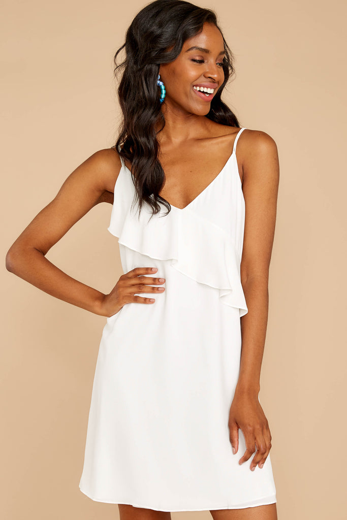 1 Perfect Tendencies White Dress at reddressboutique.com
