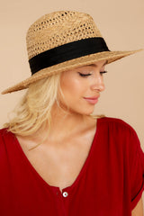 3 Everlasting Vacay Tan Hat at reddressboutique.com