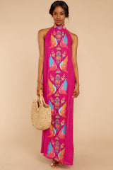 3 Flock To It Pink Embroidered Maxi Dress at reddressboutique.com