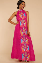 6 Flock To It Pink Embroidered Maxi Dress at reddressboutique.com
