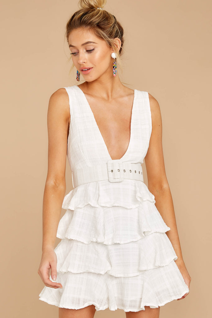 1 Knockout Sway White Dress at reddressboutique.com