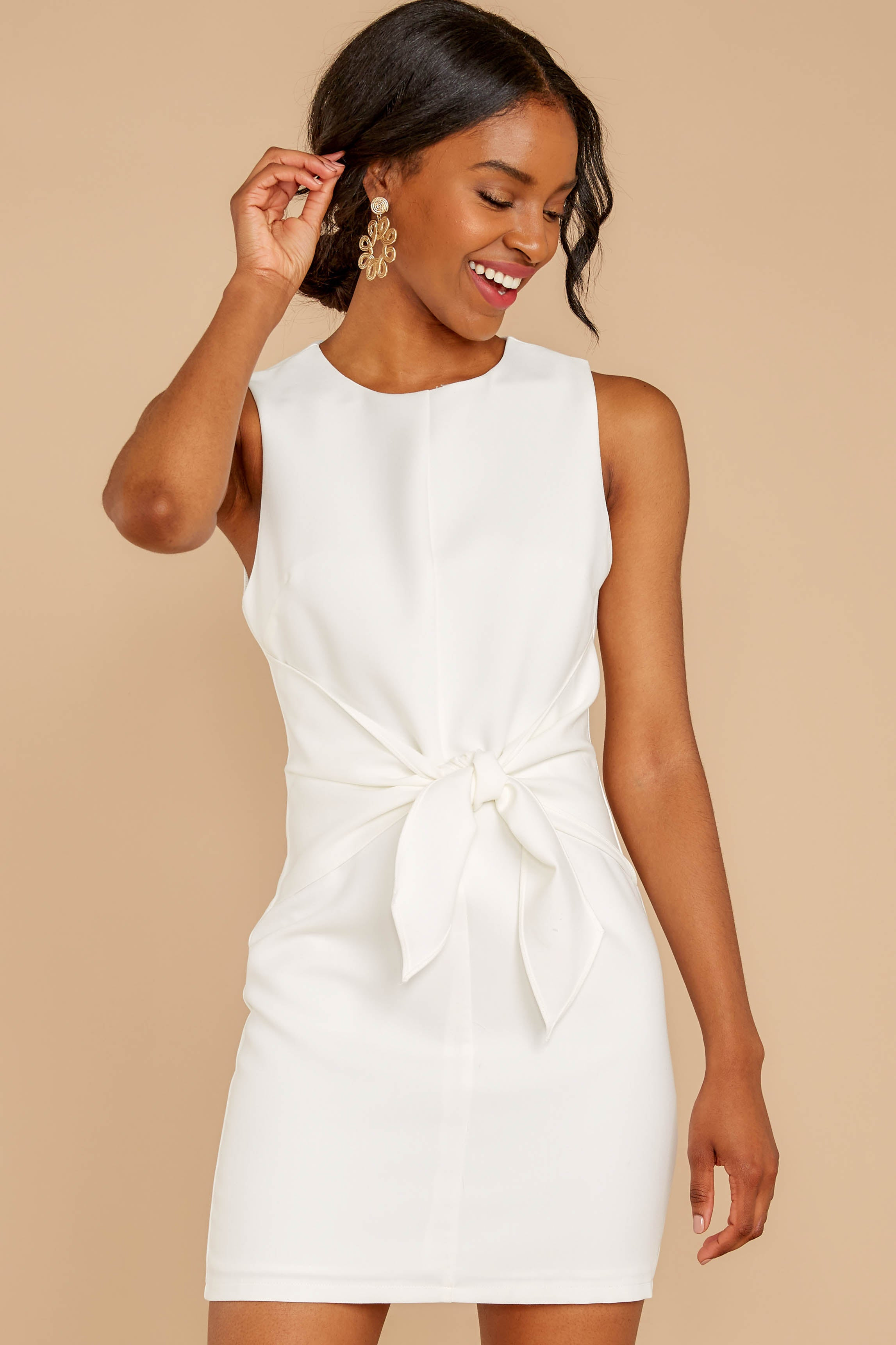 7 Must Be Dreaming White Dress at reddressboutique.com