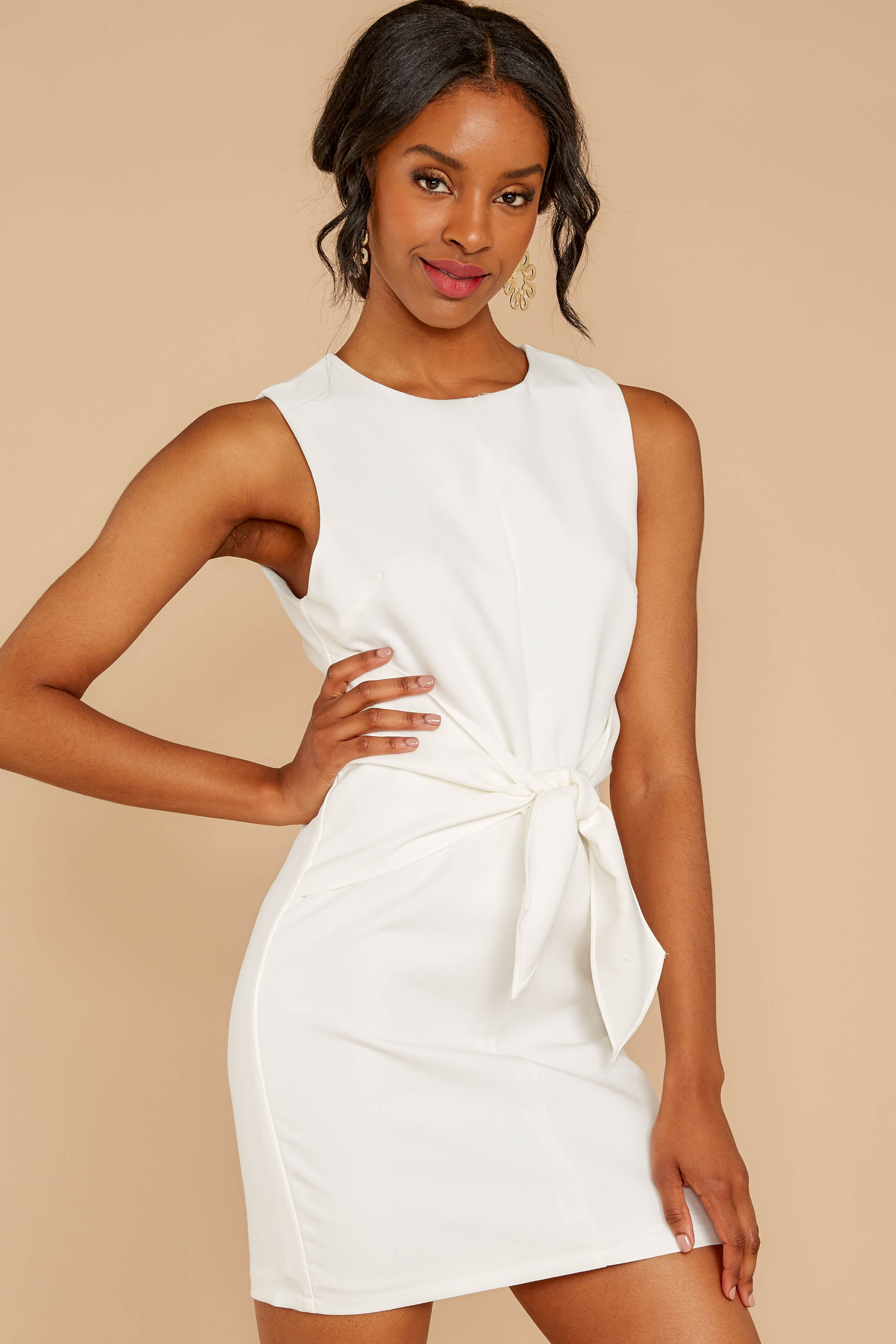 5 Must Be Dreaming White Dress at reddressboutique.com