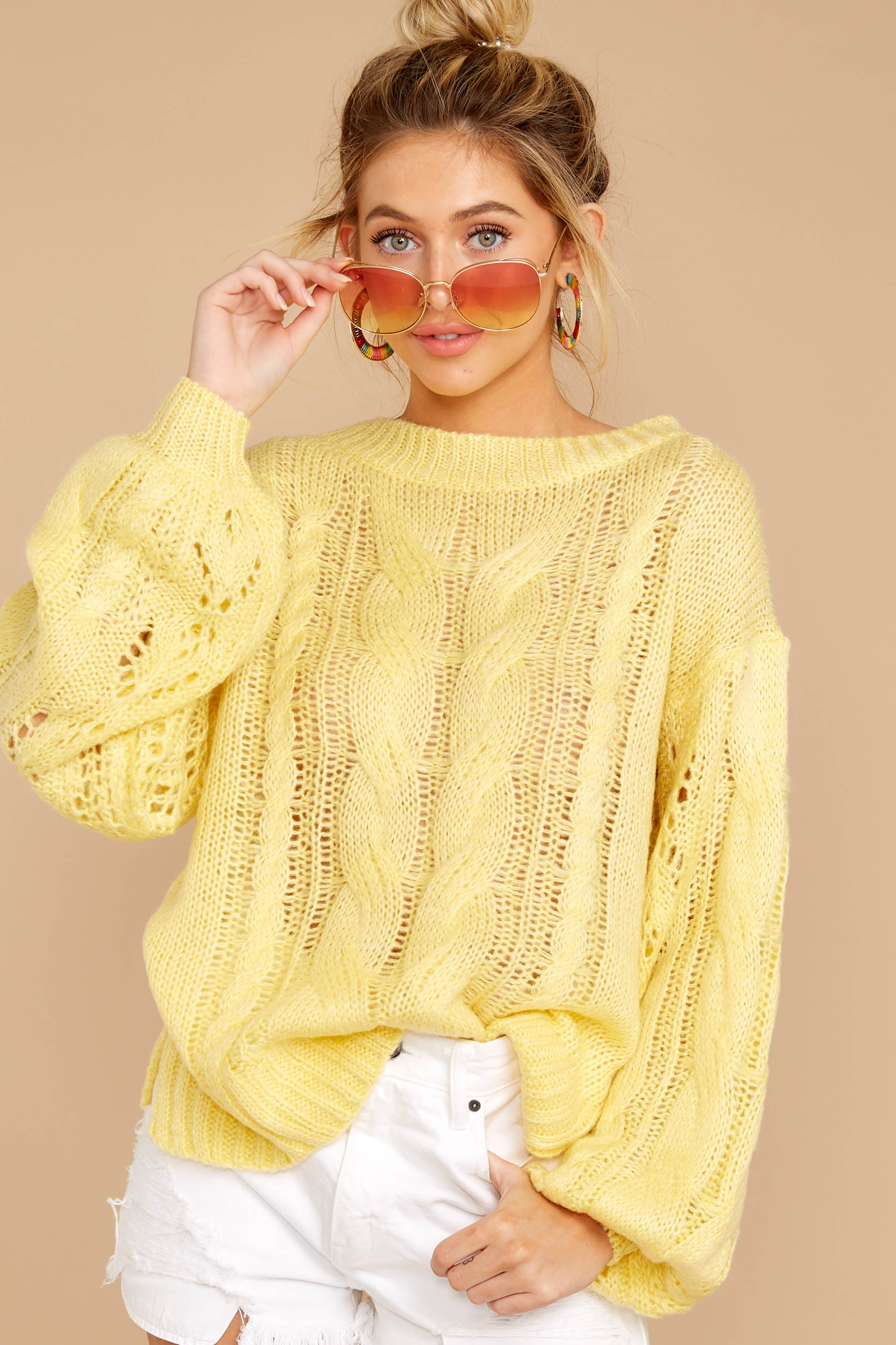 Crossroad Ahead Sunlight Yellow Sweater